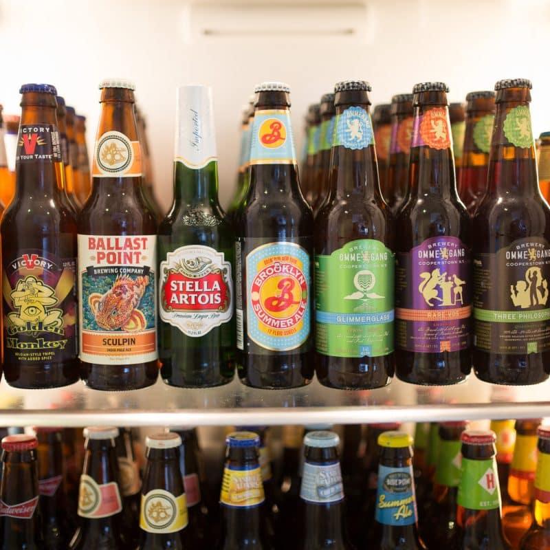 several bottles of beer