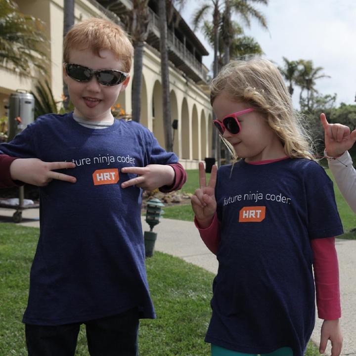 children wearing HRT shirts